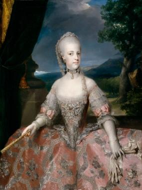 1768 María Carolina de Austria by Anton Raphael Mengs